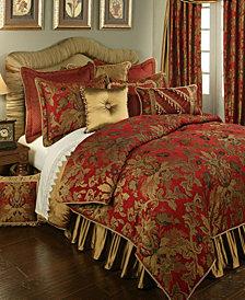 Austin Horn Classics Verona Red 3-Piece Luxury Comforter Set