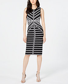 Vince Camuto Printed Sweater Dress
