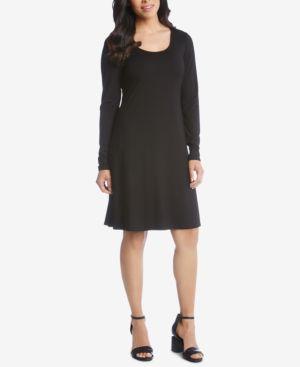 Erin A-Line Dress in Black