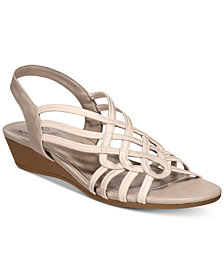 Impo Roma Stretch Slingback Wedge Sandals