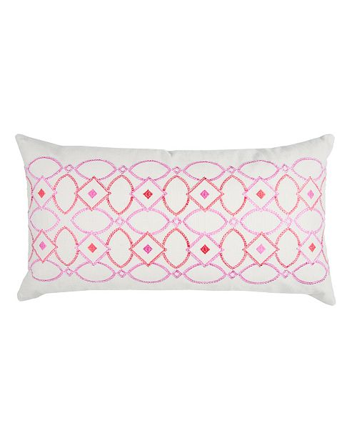 """Rizzy Home Donny Osmond 14"""" x 26"""" Geometrical Design Poly Filled Pillow"""