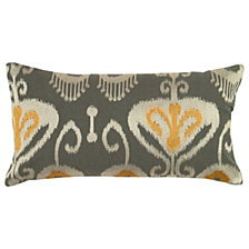 "Rizzy Home Yellow 11"" X 21"" Ikat With Flourishes Poly Filled Pillow"