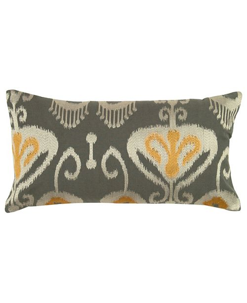 """Rizzy Home 11"""" x 21"""" Ikat with Flourishes Poly Filled Pillow"""