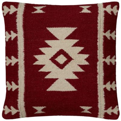 """18"""" x 18"""" Stripes with Motif Accents Poly Filled Pillow"""