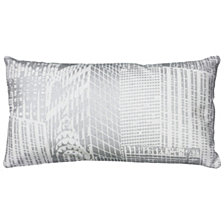 """Rizzy Home 11"""" x 21"""" Geometrical Design Poly Filled Pillow"""