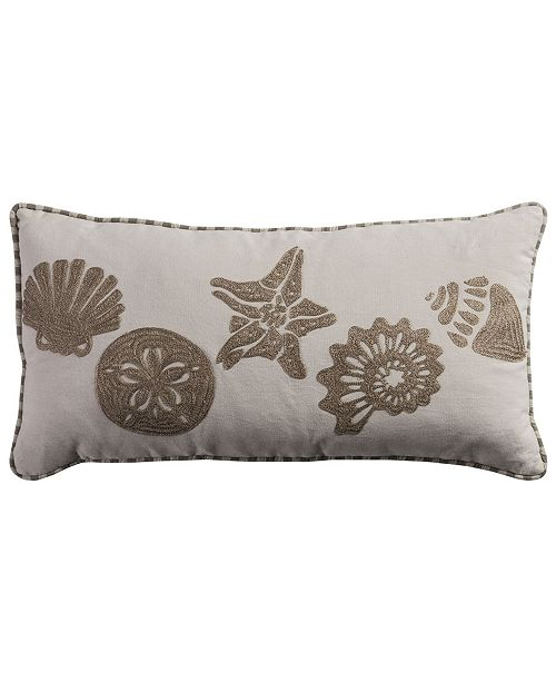 """Rizzy Home 11"""" x 21"""" Coastal Poly Filled Pillow"""