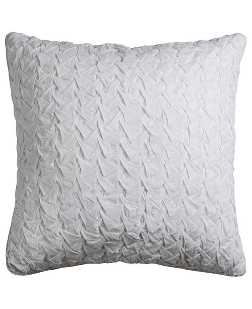"Rizzy Home Solid 22"" x 22"" Textured Poly Filled Pillow"