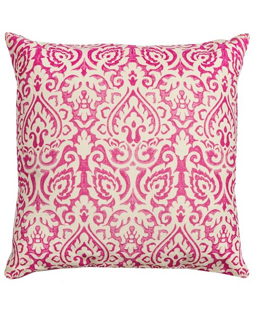 "Rizzy Home 22"" x 22"" Damask Poly Filled Pillow"