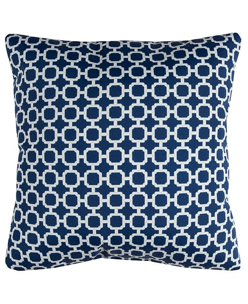"""Rizzy Home Light 22"""" x 22"""" Hockley Poly Filled Pillow"""