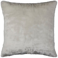 "Rizzy Home White 20"" X 20"" Faux Fur Poly Filled Pillow"