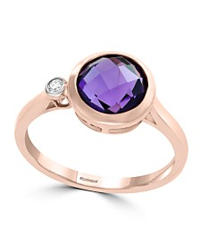 EFFY® Amethyst (1 1/2 ct. t.w.) and Diamond Accent Ring in 14k Rose Gold