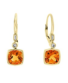 EFFY® Citrine (2 3/4 ct.t.w) and Diamond (1/10 ct.t.w.) Earrings in 14k Gold