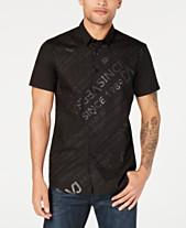 2b20bce6 Versace Black Mens Casual Button Down Shirts & Sports Shirts - Macy's