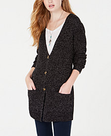 Oh!MG Juniors' Shine Button-Front Cardigan