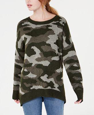 Ultra Flirt By Ikeddi Juniors Camo Pullover Sweater Sweaters