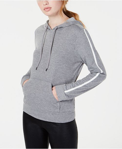 Material Girl Active Juniors' Stripe-Detailed Pullover Hoodie, Created for Macy's