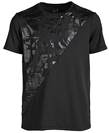 Ideology Big Boys Camo Spliced-Print T-Shirt, Created for Macy's