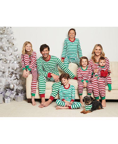 Family Pajamas Matching Holiday Stripe Mix and Match b51ae9674
