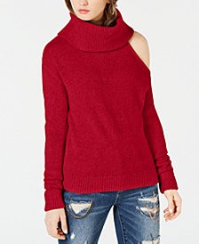 GUESS Cowlneck Cold-Shoulder Sweater