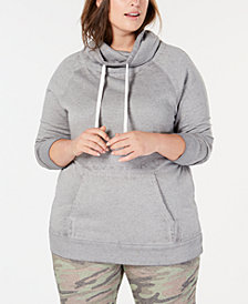 Planet Gold Plus Size Cowl-Neck Hoodie
