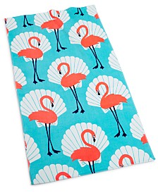 "CLOSEOUT! Martha Stewart Collection Seashell Flamingo 38"" x 68"" Beach Towel, Created for Macy's"
