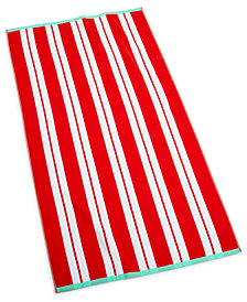 "Martha Stewart Collection Swim Stripe 38"" x 68"" Beach Towel, Created for Macy's"