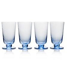 Avalon Blue 15oz Iced Beverage Glasses, Set of 4