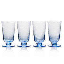 Mikasa Avalon Blue 15oz Iced Beverage Glasses, Set of 4
