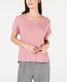 Alfani Ribbed Soft-Knit Pajama Top, Created for Macy's