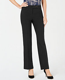 JM Collection Petite Curvy Extended-Tab Pants, Created for Macy's