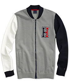 Tommy Hilfiger Adaptive Men's Terrenz Baseball Jacket with Magnetic Zipper