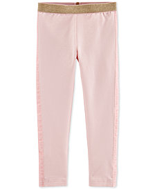 Carter's Toddler Girls Rose Gold Glitter-Waistband Leggings