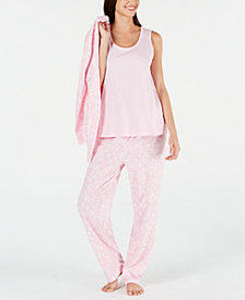 Charter Club 3-Pc. Knit Pajama Set, Created for Macy's