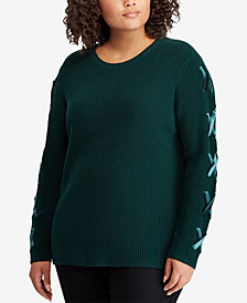 Lauren Ralph Lauren Lace-Up Sweater