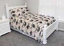Seth Sloth Flannel Fleece 2 Piece Twin Comforter Set