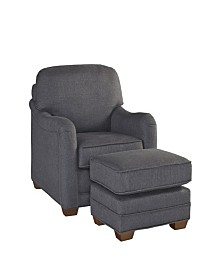 Home Styles Magean Stationary Chair and Ottoman