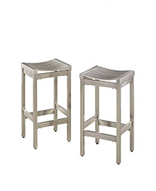 Home Styles Pair of Stainless Steel Stools