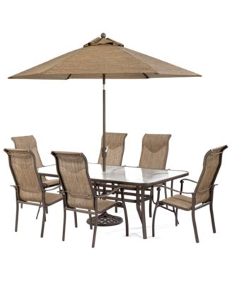 oasis outdoor aluminum 7 pc dining set 84 x 42 dining table and 6 dining chairs created for macys furniture macys