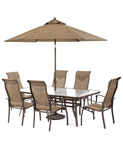 oasis outdoor aluminum 7 pc dining set 84 furniture