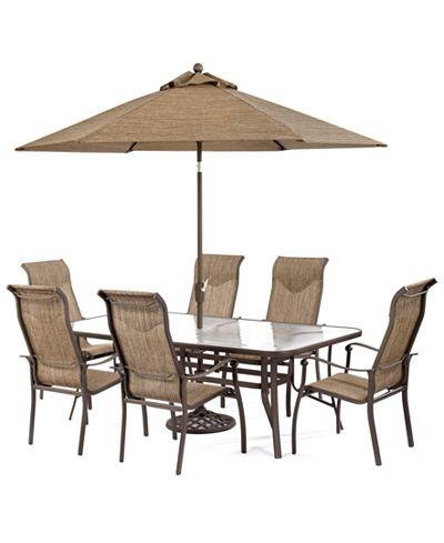 Online Exclusive Oasis Outdoor Aluminum 7 Pc Dining Set