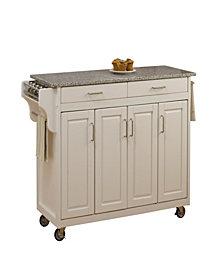 Home Styles Create-a-Cart White Finish Salt&Pepper Granite Top