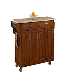 Home Styles Create-a-Cart Cottage Oak Finish with Wood Top