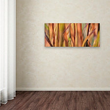 Cora Niele 'Autumn Grass Scape' Canvas Art