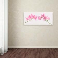 "Cora Niele 'Two Sweet Peas' Canvas Art, 14"" x 32"""