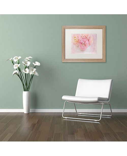 "Trademark Global Cora Niele 'Chique Bouquet' Matted Framed Art, 11"" x 14"""