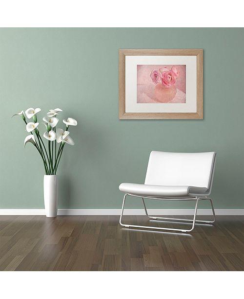 """Trademark Global Cora Niele 'Pink Ranunculus Bouquet' Matted Framed Art, 11"""" x 14"""""""