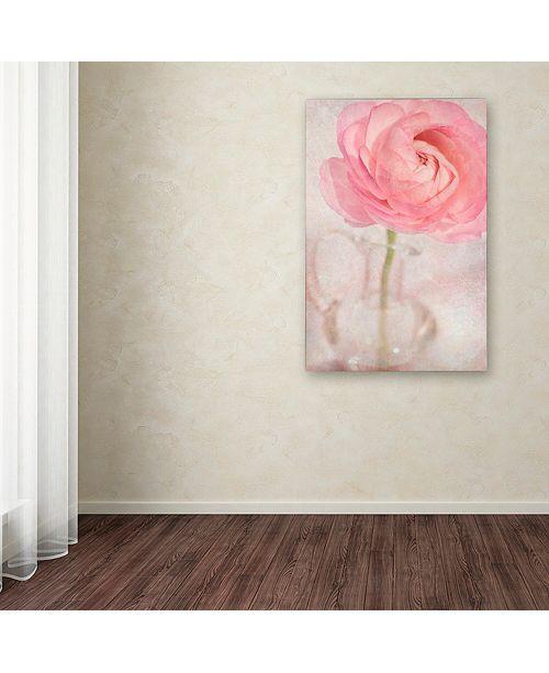 "Trademark Global Cora Niele 'Single Rose Pink Flower' Canvas Art, 22"" x 32"""