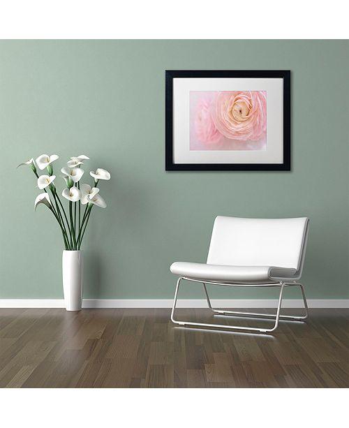 """Trademark Global Cora Niele 'Soft Pink Flower Bouquet' Matted Framed Art, 11"""" x 14"""""""