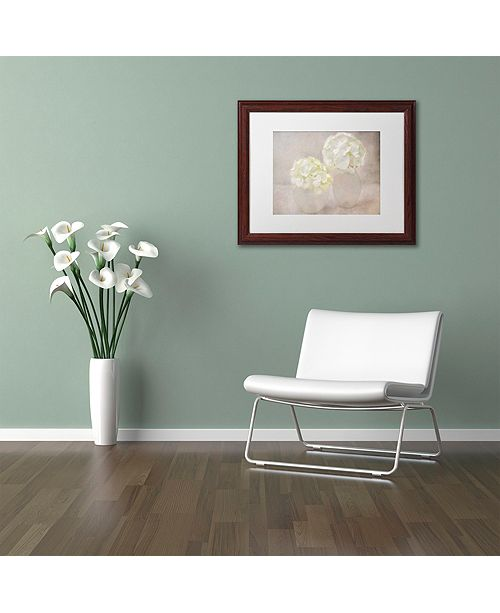 "Trademark Global Cora Niele 'White Hortensia Still Life' Matted Framed Art, 11"" x 14"""