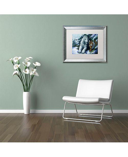 "Trademark Global Jenny Newland 'Big Brother' Matted Framed Art, 16"" x 20"""